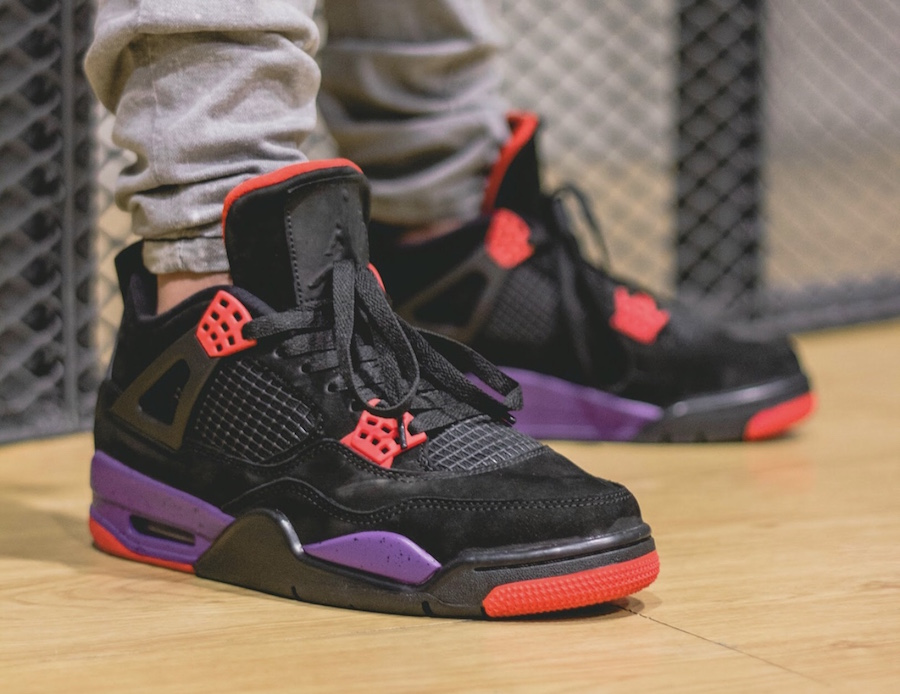 wholesale dealer dc3a6 3fa01 air-jordan-4-raptors-on-feet | Foot Fire